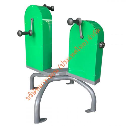 อุปกรณ์บริหารกล้ามเนื้อข้อต่อ มือ , หัวไหล่ และ แขน แบบปั่นจักรยานโดยใช้มือ รุ่น V8
