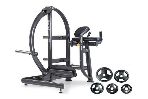 อุปกรณ์ฝึกความแข็งแรงกล้ามเนื้อบั้นท้าย ( Rear Kick ) พร้อมแผ่นน้ำหนักหุ้มยาง  120 กิโลกรัม